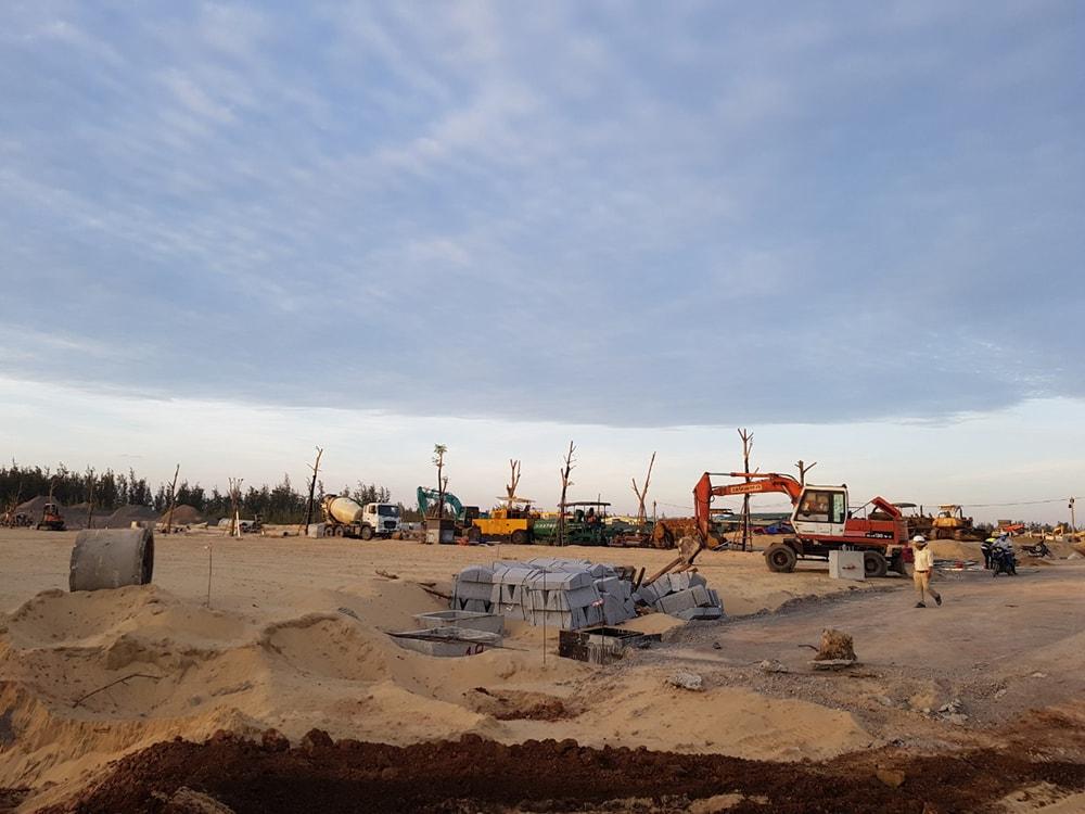Hình ảnh thực tế tại dự án Nhơn Hội New City 3